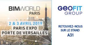 Le Groupe GEOFIT sera présent au BIM World 2019