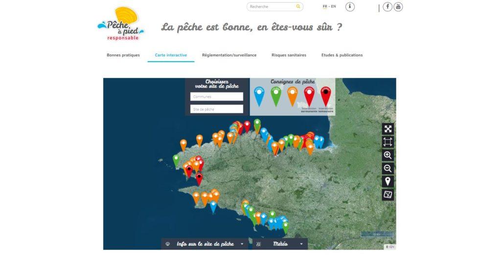 Le geoportail recence 100 sites en Bretagne